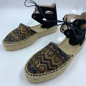 Anthropologie Howsty 8.5 Muse Espadrilles ankle